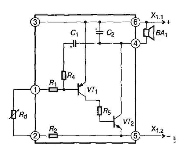 Электрическая схема показана